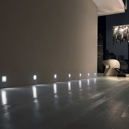 Leuchte für Wandeinbau / fluoreszierend / quadratisch