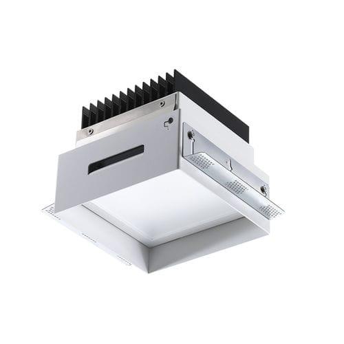 Einbaudownlight / LED / quadratisch / Aluminium
