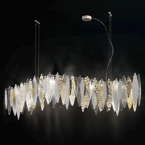 Hängelampe / modern / Metall / Opalglas