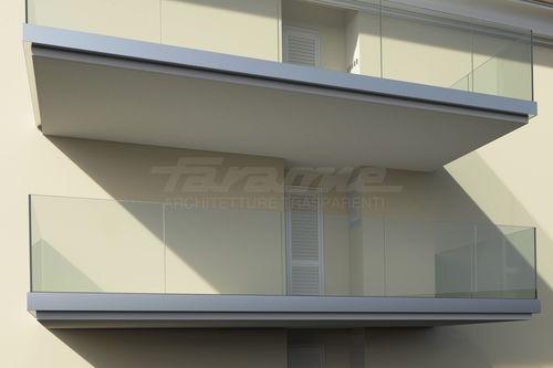 Glasplatten-Balkon / Aluminium