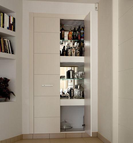 Tür für Wandschrank / einflügelig / Massivholz / aus Eiche