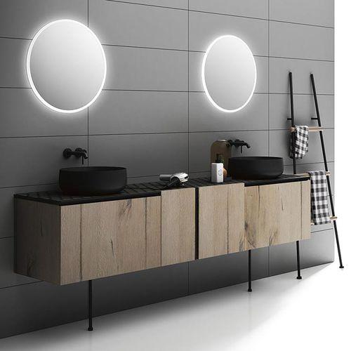 doppelter Waschtisch-Unterschrank / hängend / freistehend / Holz