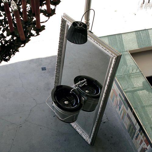 Wand-Waschbecken / oval / Glas / Kupfer