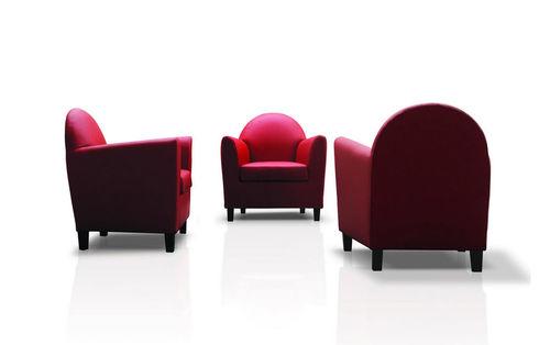 moderner Sessel / Baumwolle / Objektmöbel