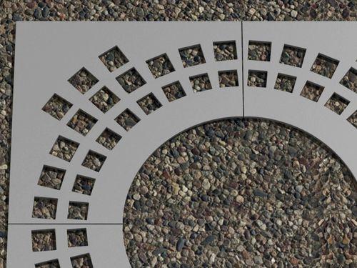 Stahl-Baumgitter / quadratisch