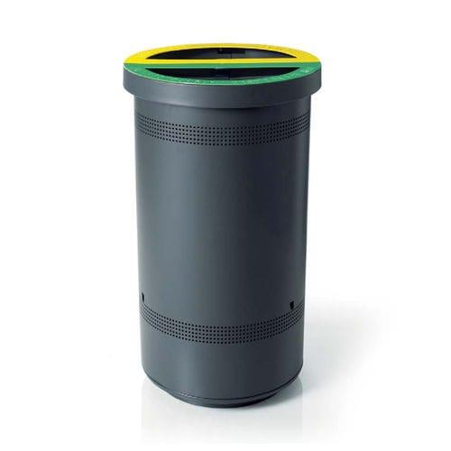 Park-Abfallbehälter / verzinkter Stahl / System / mit integriertem Aschenbecher