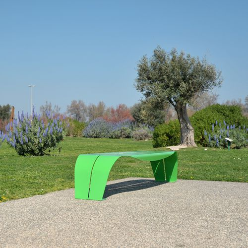 Parkbank / originelles Design / Edelstahl