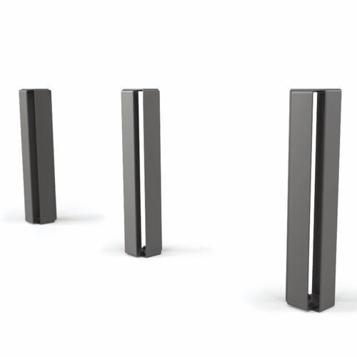 Sicherheits-Sperrpfosten / verzinkter Stahl / feststehend