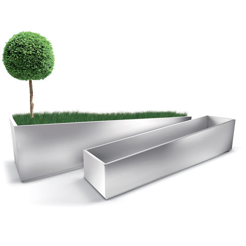Pflanzkübel / verzinkter Stahl / COR-TEN®-Stahl / rechteckig / modern