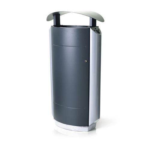 Park-Abfallbehälter / verzinkter Stahl / modern / mit integriertem Aschenbecher