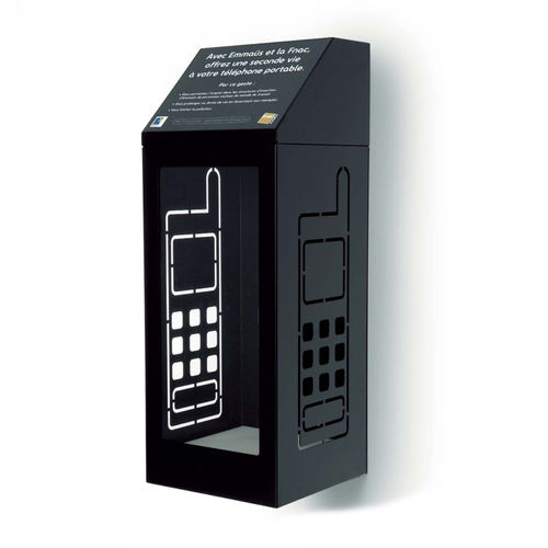 Park-Abfallbehälter / wandmontiert / Metall / modern