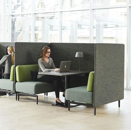 modulare Polsterbank / modern / Stoff / Leder