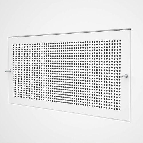 Edelstahl-Lüftungsgitter / Stahl / rechteckig / weiß