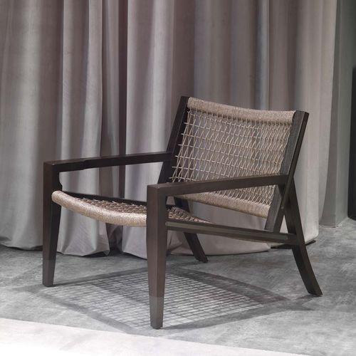 klassischer Sessel / Massivholz / Kordel / Standard-Fußgestell