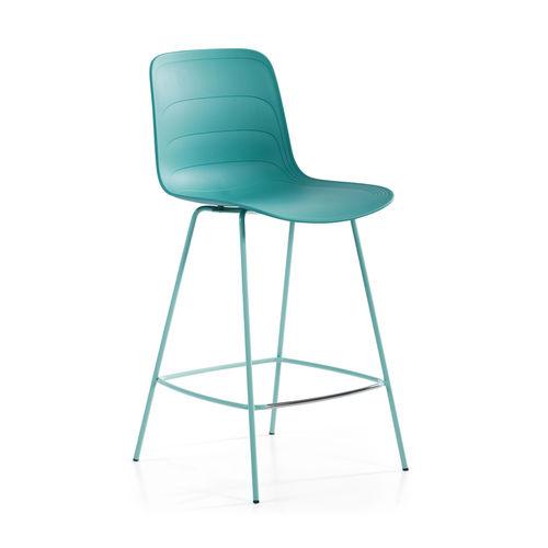 moderner Barstuhl / Polster / recyceltes Material / Stoff