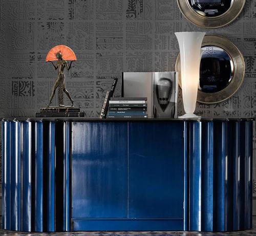 Sideboard / Art Deco / gestrichenes Holz / blau