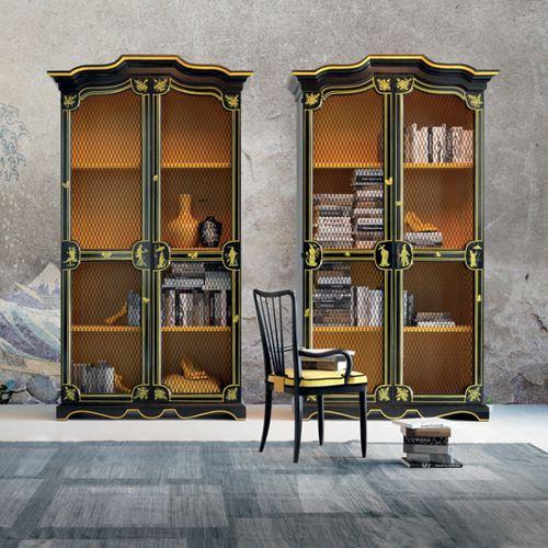 Stilbibliothek / Holz / Eisen