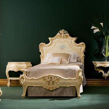 Doppelbett / Einpersonen / Stil / gepolstertes Kopfteil