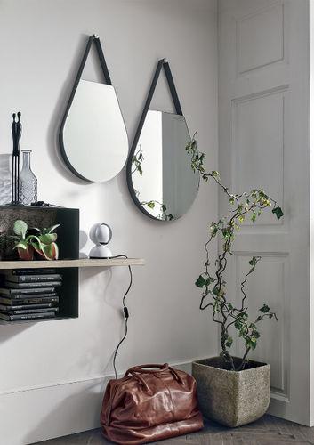 wandmontierter Spiegel / modern / Metall