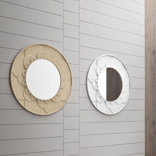 wandmontierter Spiegel / modern / rund / Polyurethan