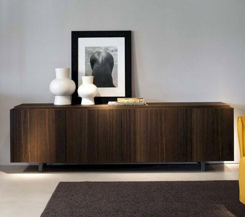 modernes Sideboard / lackiertes Holz / mattlackiertes Holz / grau