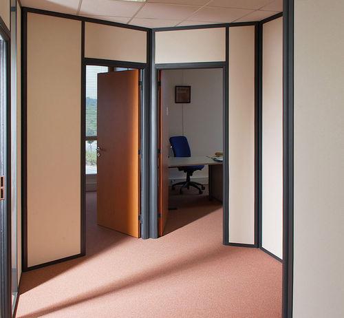 abnehmbare Trennwand / Holz / Büro