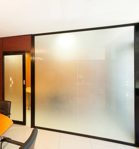 abnehmbare Trennwand / Glas / Büro / lichtdurchlässig
