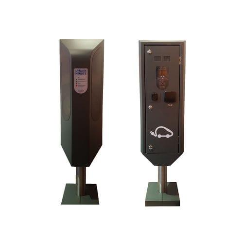 Zutritts-Sperrpfosten / Metall / feststehend / für Parkplätze