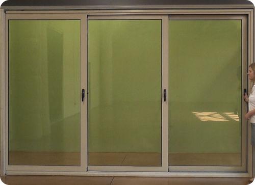 Schiebe-Glaswand