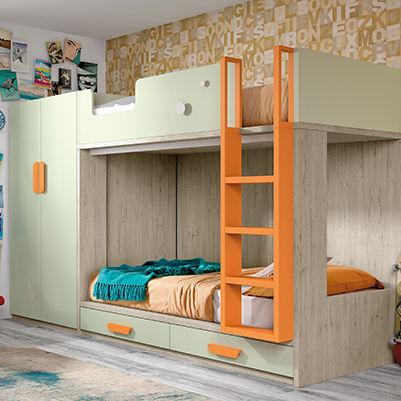 Etagenbett / Doppelbett / modern / Bettkasten