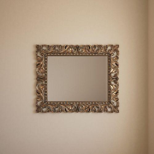 wandmontierter Spiegel / klassisch / rechteckig / Metall