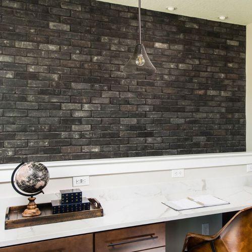 Riemchen für Fassaden / Innenbereich / schwarz / Steinoptik