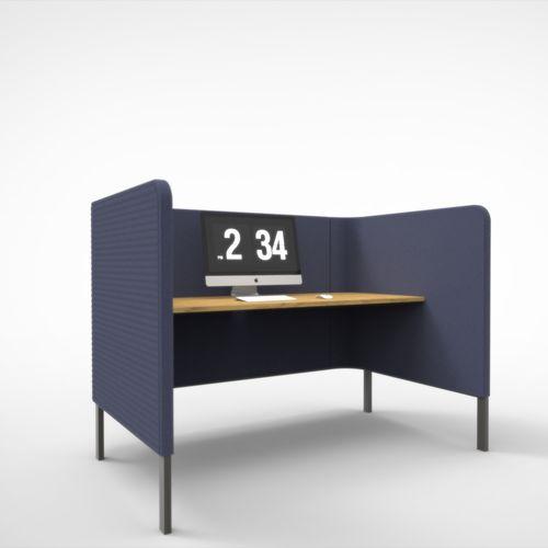 Schreibtisch für Open Space / aus Eiche / modern / Objektmöbel