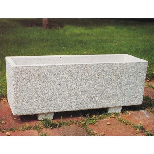 Beton-Pflanzkübel / rechteckig / modern / für öffentliche Bereiche