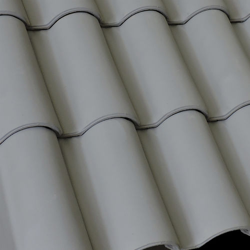 Hohldachziegel / Zement / grau