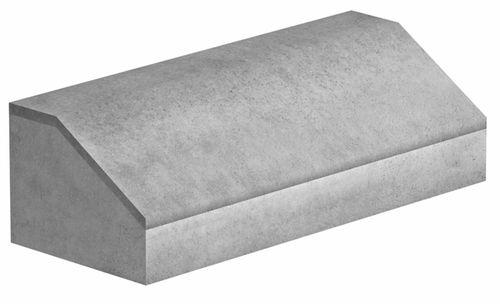 Bordstein-Bordsteinrampe / Beton / linear