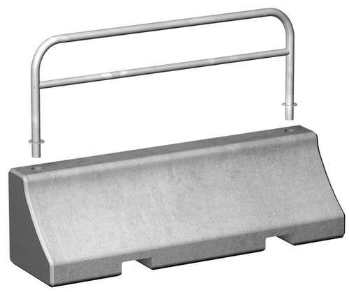 Betonleitplanke / verzinkter Stahl / Straßen