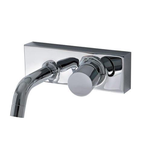 Einhebelmischer für Waschtisch / wandmontiert / verchromtes Metall / mechanisch