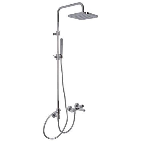 wandmontiertes Duschsystem / modern / mit Handbrause / mit Duschkopf auf Duschsäulen