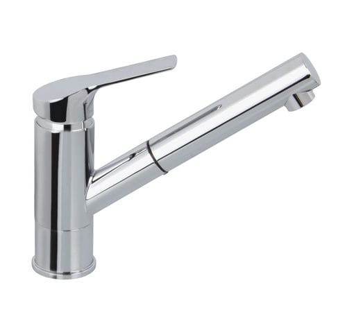 Einhebelmischer / verchromtes Metall / ABS / für Küchen / 1-Loch