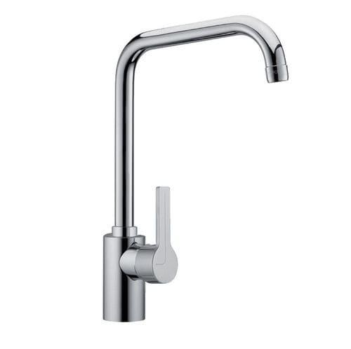Einhebelmischer / verchromtes Metall / für Küchen / 1-Loch / Schwenkauslauf