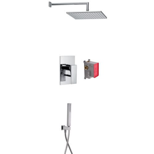 Duschsystem für Wandeinbau / modern / mit Handbrause / mit regulierbarem Brausekopf