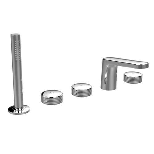 Mischbatterie für Badewanne / für Theken / verchromtes Metall / für Badezimmer