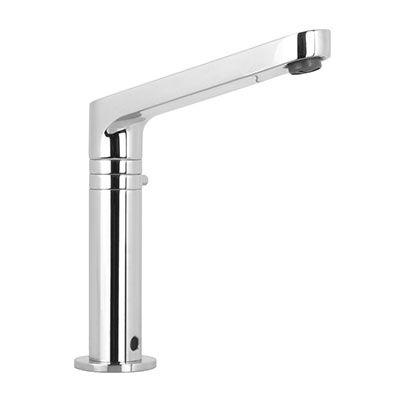 Einhebelmischer für Waschtisch / verchromtes Metall / elektronisch / für Badezimmer