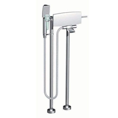 Einhebelmischer für Badewanne / bodenstehend / verchromtes Metall / für Badezimmer