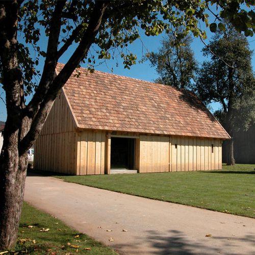 Fertigbau-Gebäude / Massivholz / für Events / modern