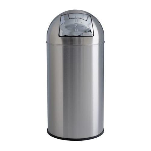 Park-Abfallbehälter / gebürsteter Edelstahl / modern / Objektmöbel