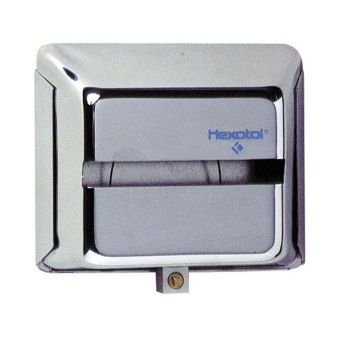 wandmontierter Toilettenpapierhalter / Stahl / Objektmöbel