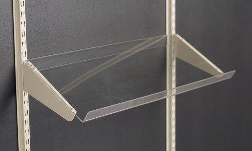 wandmontiertes Regal / modern / aus Acryl / für Geschäfte