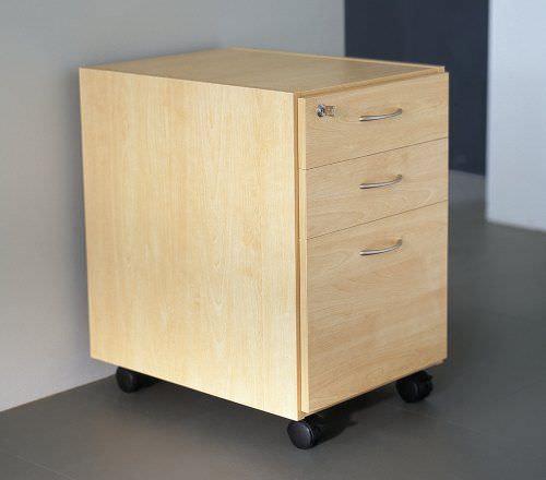 Holz-Büroschubladenschrank / 3-Schubladen / mit Schlüssel